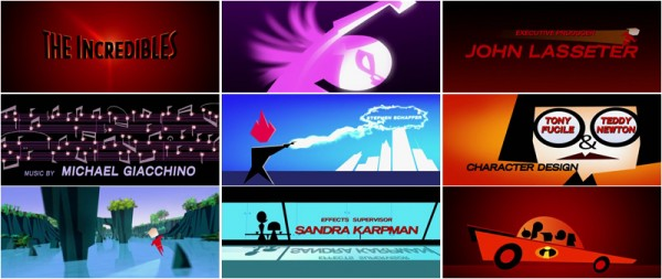 The Incredibles opening titles
