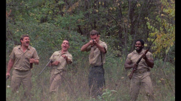 Sgt. Stryker (Brian Schultz) and company relaxing in Michigan. Or Vietnam. No, it's Michigan. (I always confuse the two.)