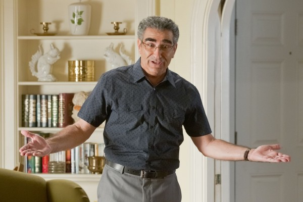 """""""Can you fault me for taking the paycheck?"""" asks Jim's Dad (Eugene Levy)"""