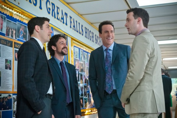 Jim (Jason Biggs), Kevin (Thomas Ian Nicholas), Oz (Chris Klein) and Finch (Eddie Kaye Thomas)... reunited.
