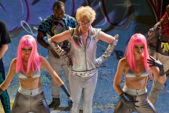 Dazzle (Drew Droege) and his backup dancers step up