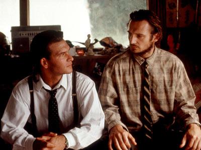 Backwoods Badasses, Truman (Patrick Swayze) and Briar (Liam Neeson) take on the mob.