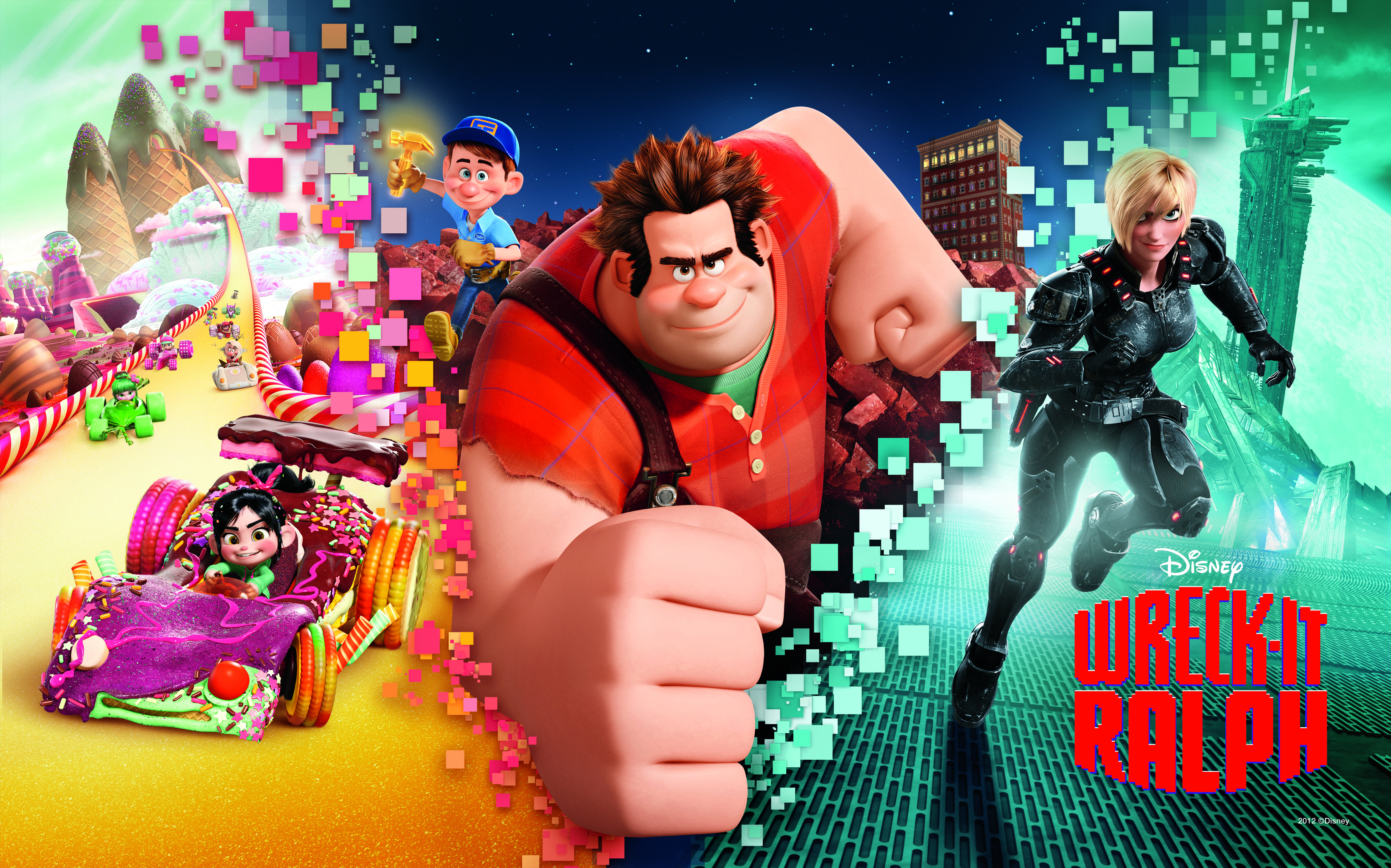 Wreck It Ralph Animation Movie 4k Hd Desktop Wallpaper For: Marquee Mama Reviews Disney's Wreck-It Ralph (Film Review