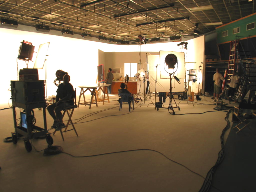 a production in progress at great southern studios in north miami
