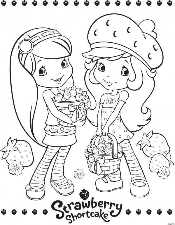strawberry shortcake and friends coloring pages eassumecom with best friend coloring pages