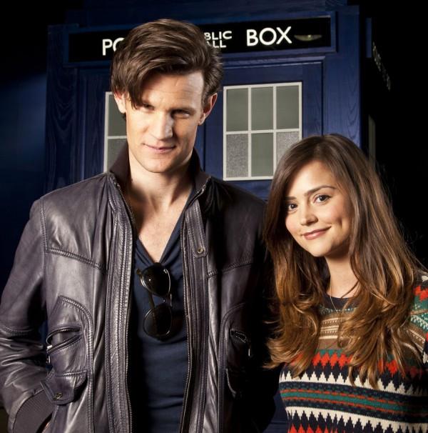 Photo of Matt Smith & his friend  Clara Oswald