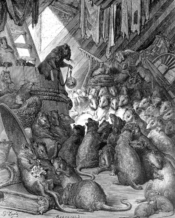 """The Council of the Rats by Gustave Doré"