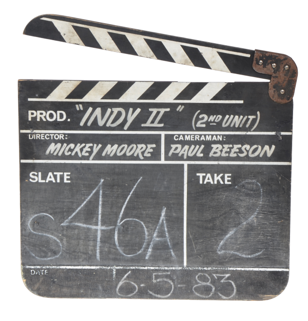 Clapboard from  Indiana Jones and the Temple of Doom