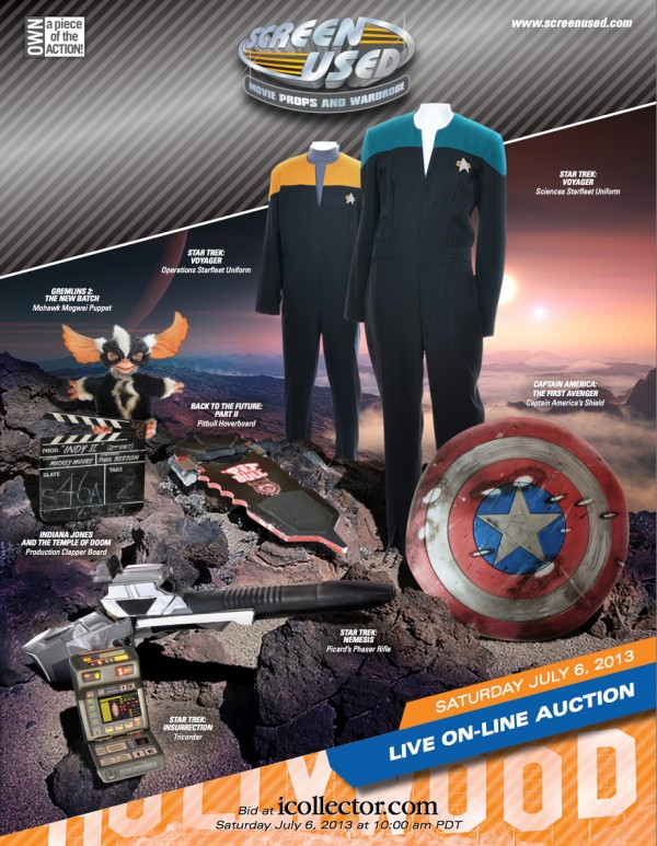 Screen Used July 2013 Auction Catalog Cover
