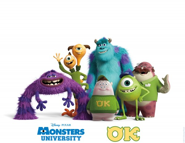 """MONSTERS UNIVERSITY"" (Pictured) MIKE and SULLEY amongst other MU monsters."