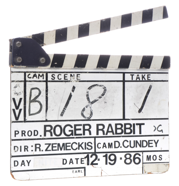 Clapboard from Who Framed Roger Rabbit