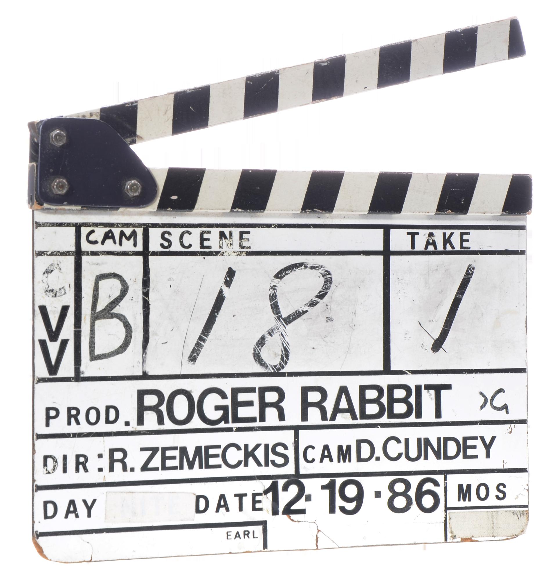 clapboard from who framed roger rabbit - Who Framed Roger Rabbit Soundtrack