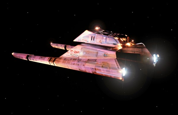 Still photo of Vulcan Shuttle, design Richard Taylor, Andy Probert, Photo by Virgil Mirano.