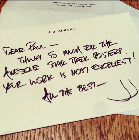 Thank you note from JJ Abrams