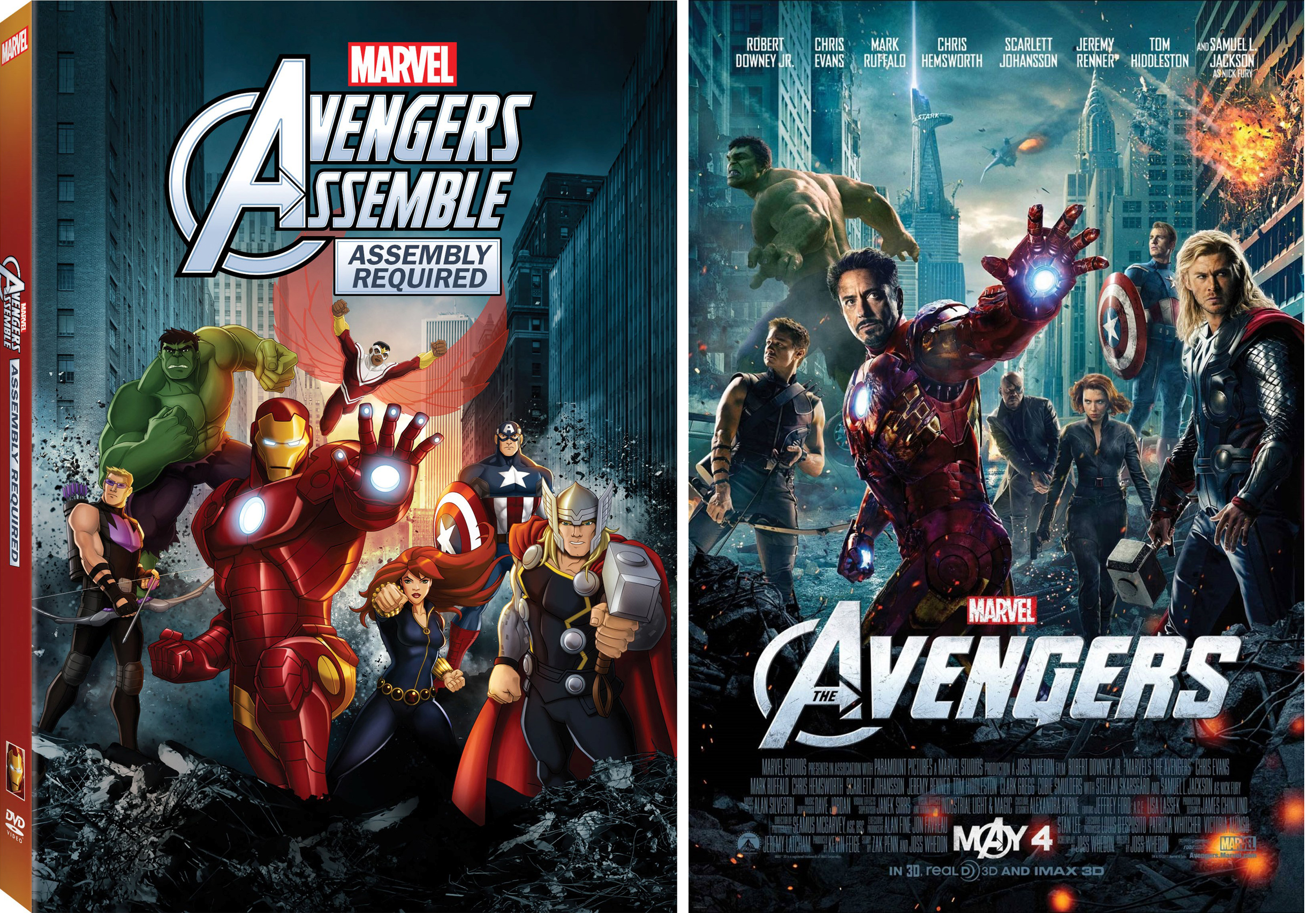 new animated avengers assemble dvd box art pays tribute to live