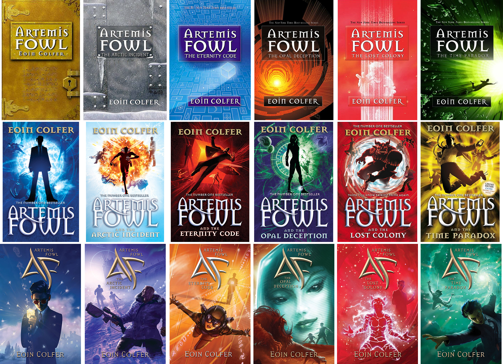 """Book Cover Series : The best selling book """"artemis fowl being developed by"""