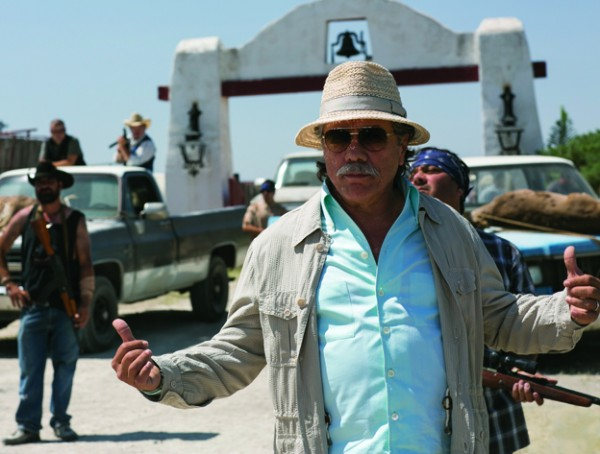Edward James Olmos as drug warlord Papi Greco