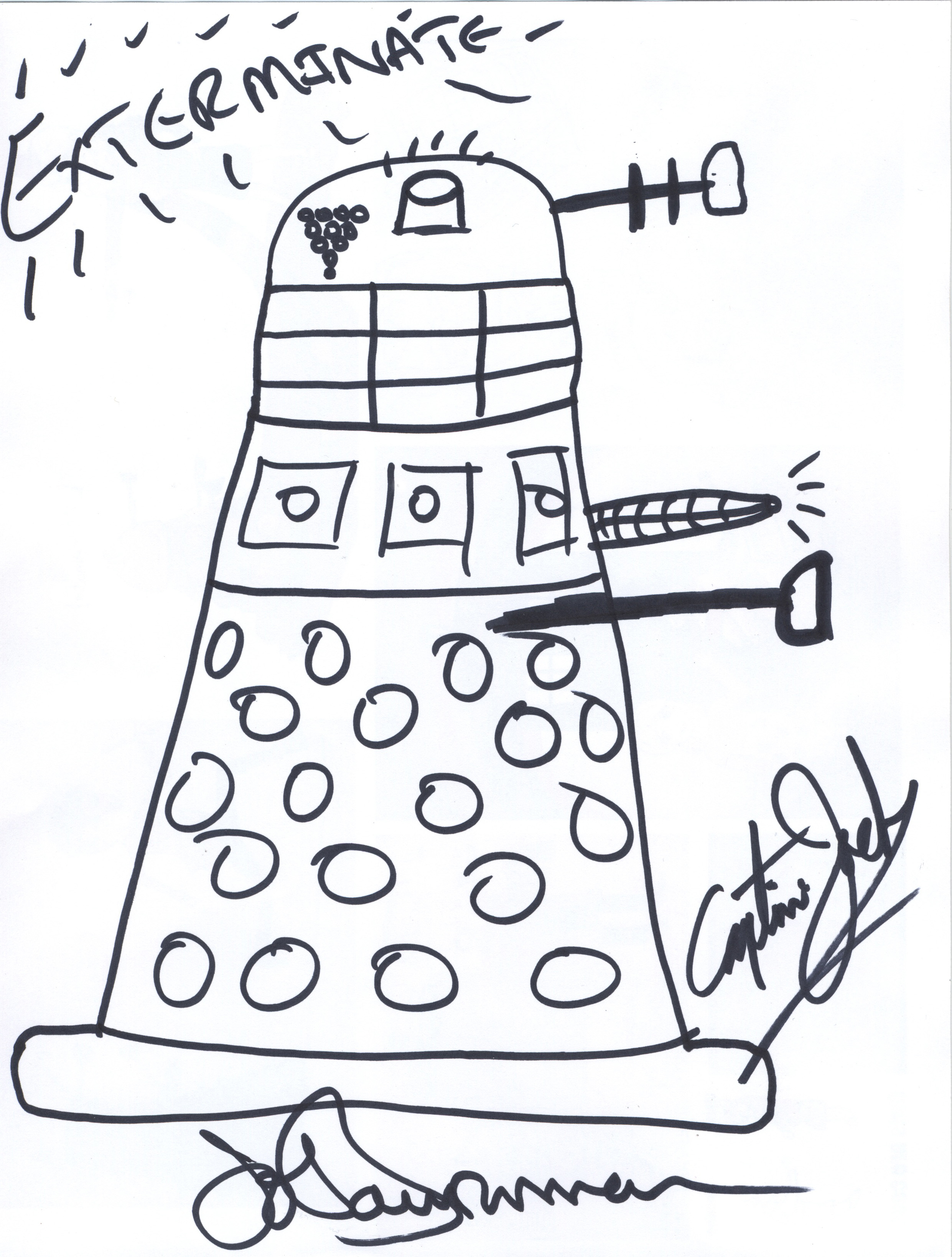 john barrowmans dalek drawing
