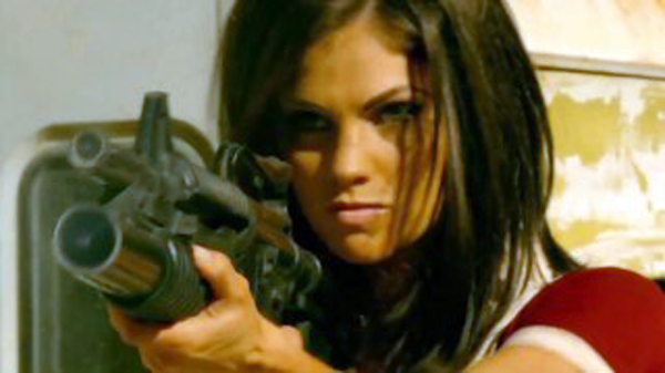 Mary Death (Christian Pitre) takes aim in Bounty Killer