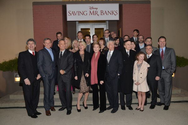 The cast of 'Saving Mr. Banks' at the premier of the film on the studio lot.