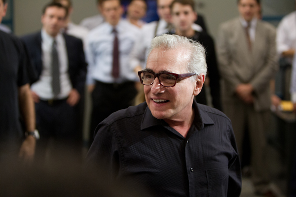 Director/Producer Martin Scorsese on the set of THE WOLF OF WALL STREET