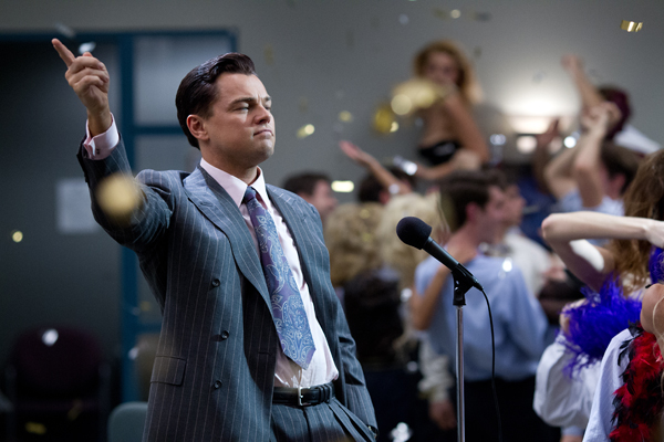 Leonardo DiCaprio is Jordan Belfort in THE WOLF OF WALL