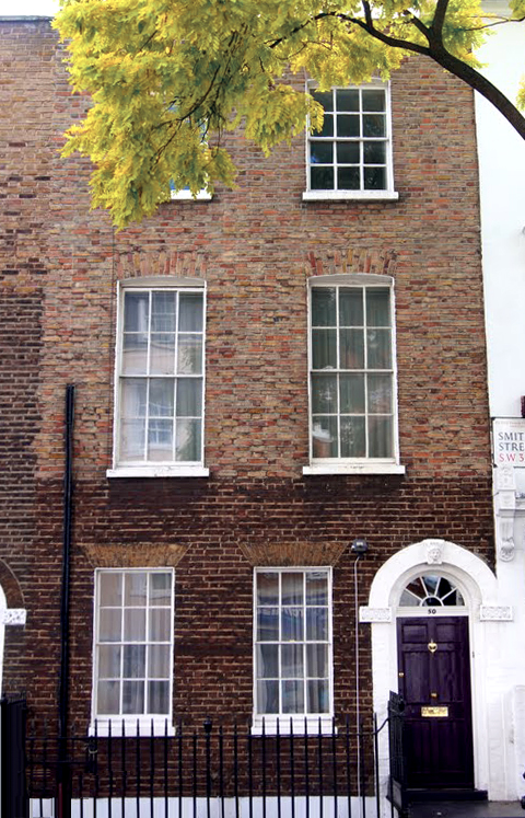 P.L. Travers' home at 50 Smith Street in Chelsea, London