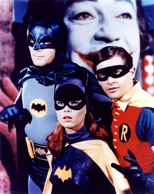 The dynamic trio; Batman, Robin and Batgirl