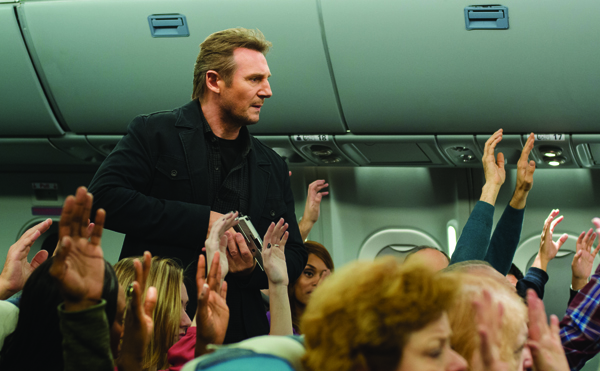 Air Marshal Bill Marks (Neeson) tracks down a killer in NON-STOP