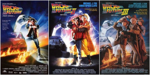 Drew Struzan's posters for Back to the Future parts 1, 2 and 3