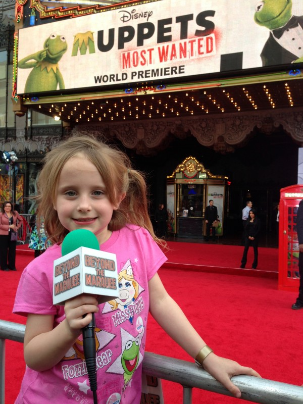 Lindalee arrives on the Red Carpet for the World Premiere of MUPPETS MOST WANTED