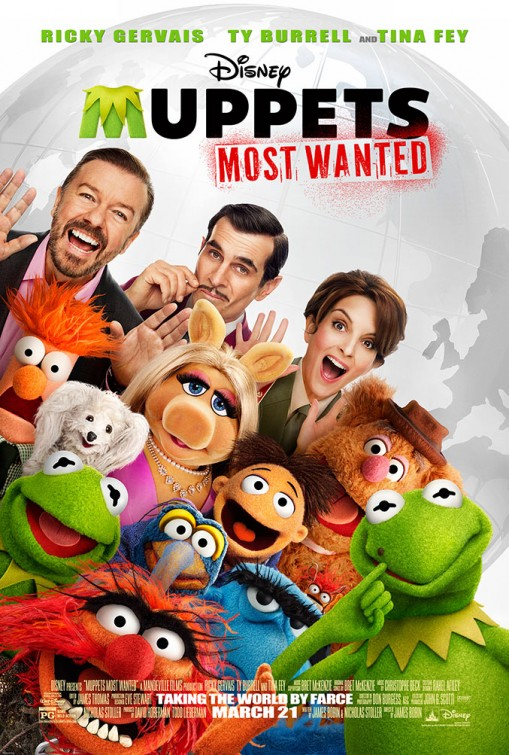 The Muppets Most Wanted in Theaters 3/21/14