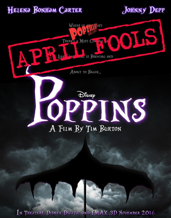 A spoonful of disappointment, the Mary Poppins / Tim Burton poster is a Hoax!