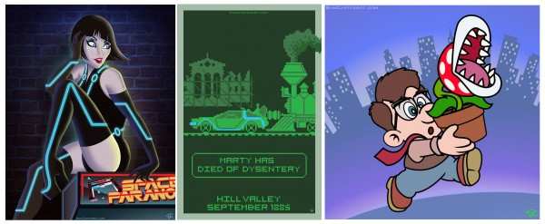 "Win these pieces, featured in POPzilla's 5th art show, ""POPcade"""
