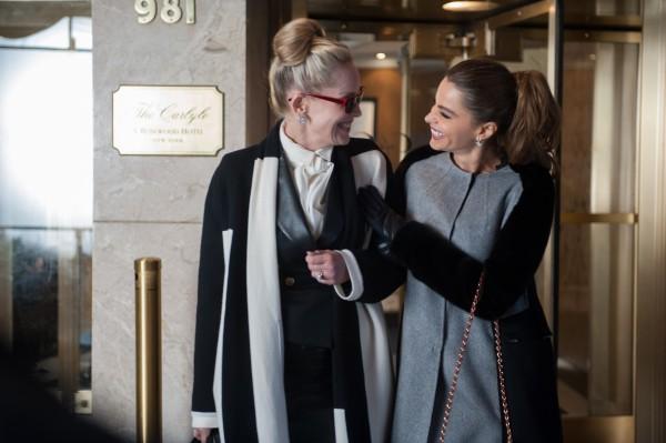 Sharon Stone as Dr. Parker and Sofia Vergara as Selima discuss their 'three way' affair