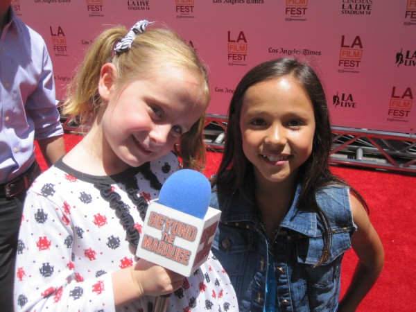 """Lindalee and actress Breanna Yde who plays """"Frankie Hathaway"""" on Nickelodeon's HAUNTED HATHAWAYS"""