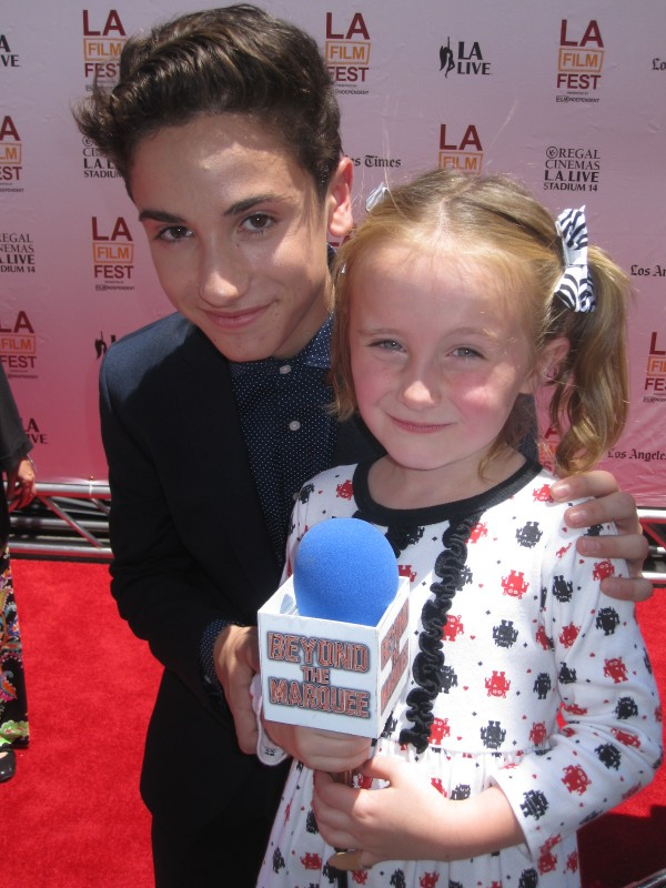 """Lindalee and actor Teo Halm who plays """"Alex"""" in EARTH to ECHO"""