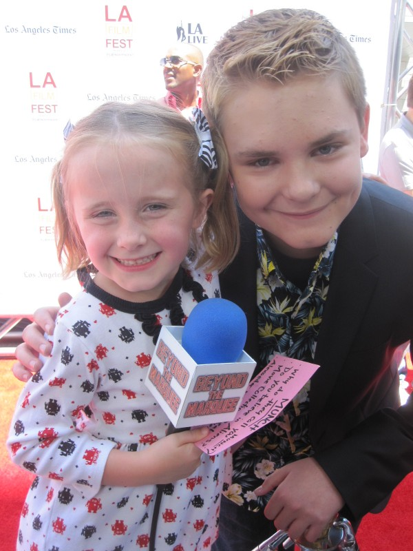 """Lindalee and actor Reese Hartwig who plays """"Munch"""" in EARTH to ECHO"""