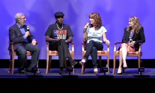 Leonard Maltin interviews Back To The Future cast members Lea Thompson, Claudia Wells and Don Fullilove