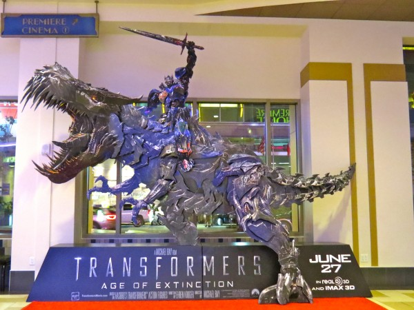 Transformers: Age of Extinction Lobby Display at Regal Cinemas in Downtown LA