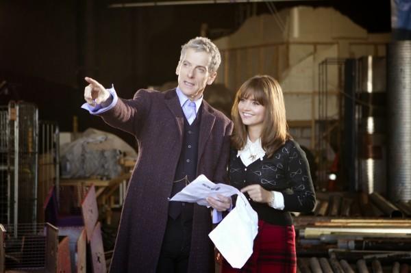 Peter Capaldi and Jenna Coleman (The Doctor and Clara)