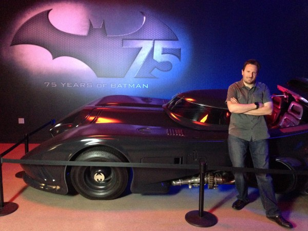 BTM Host and Chief Marquee'ologist; Steve Czarnecki next to the 1989 Keaton Batmobile
