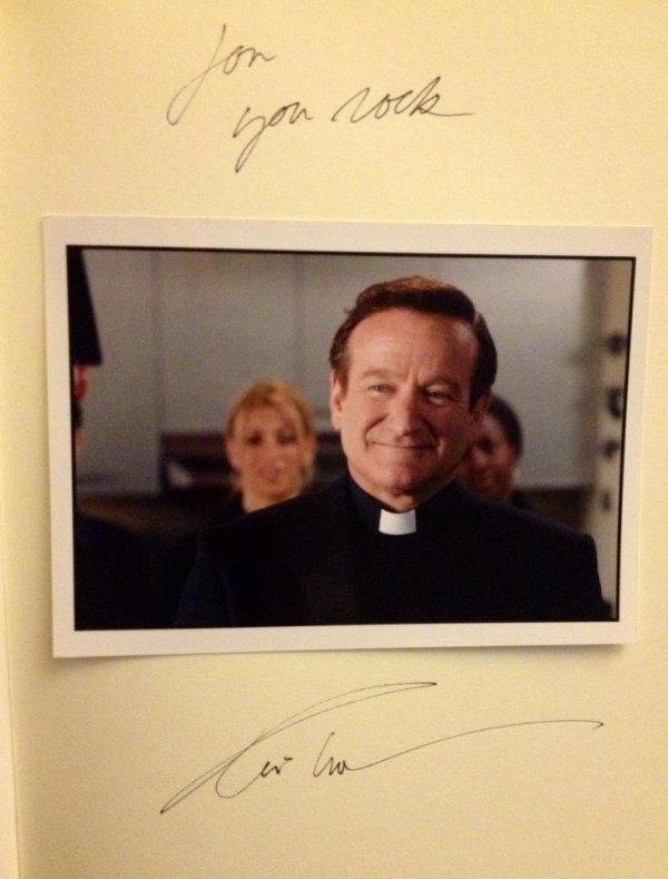 License to Wed Cast/Crew gift from Robin Williams