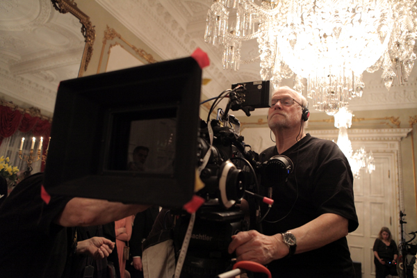 Director Jan Troell on the set of The Last Sentence