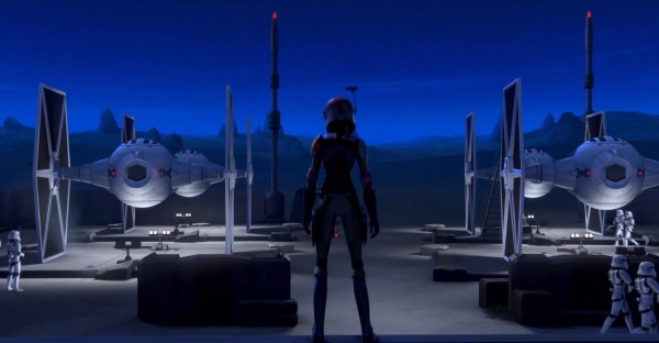 STAR WARS REBELS - Sabine and TIE Fighters