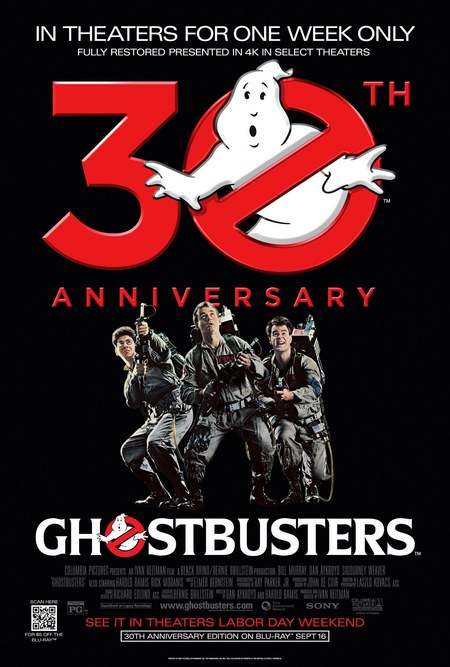 'Ghostbusters' 30th Anniversary re-release.