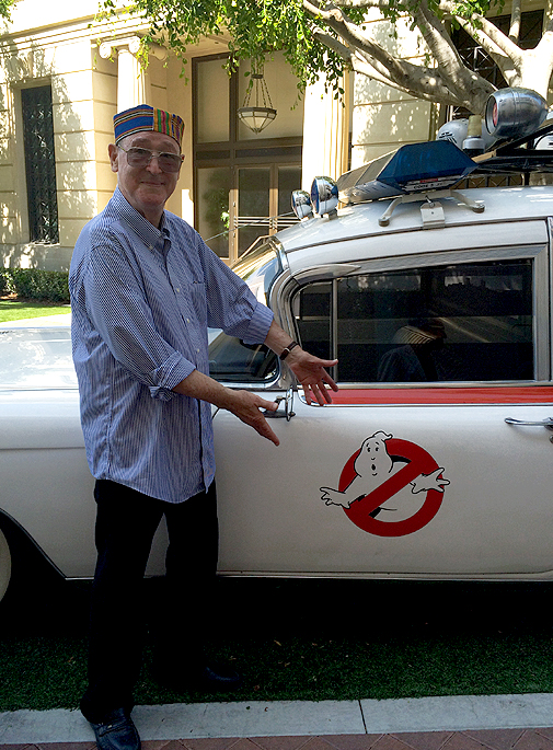 Stephen Dane reunited with the Ecto-1 30 years later.