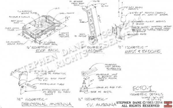 Design of the Ecto-1 roof rack and ladder
