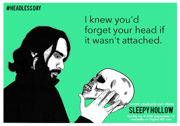 An ECard for Sleepy Hollow the TV Series on Blu-Ray/DVD