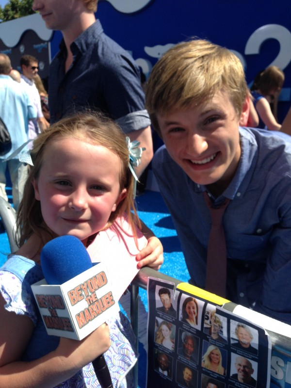 Lindalee and Nathan Gamble as Sawyer in Dolphin Tale 2